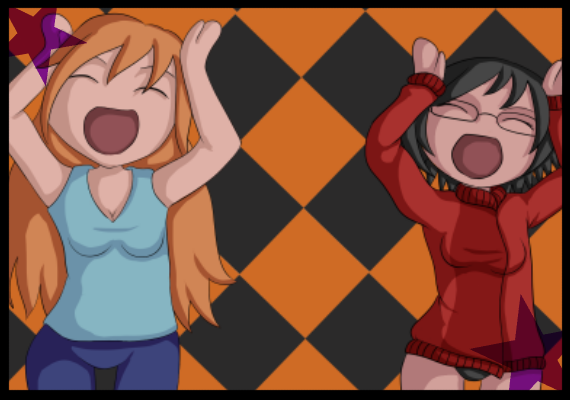 Commission for someone of two of their characters doing the caramelldansen dance that took the net by storm a couple years back.